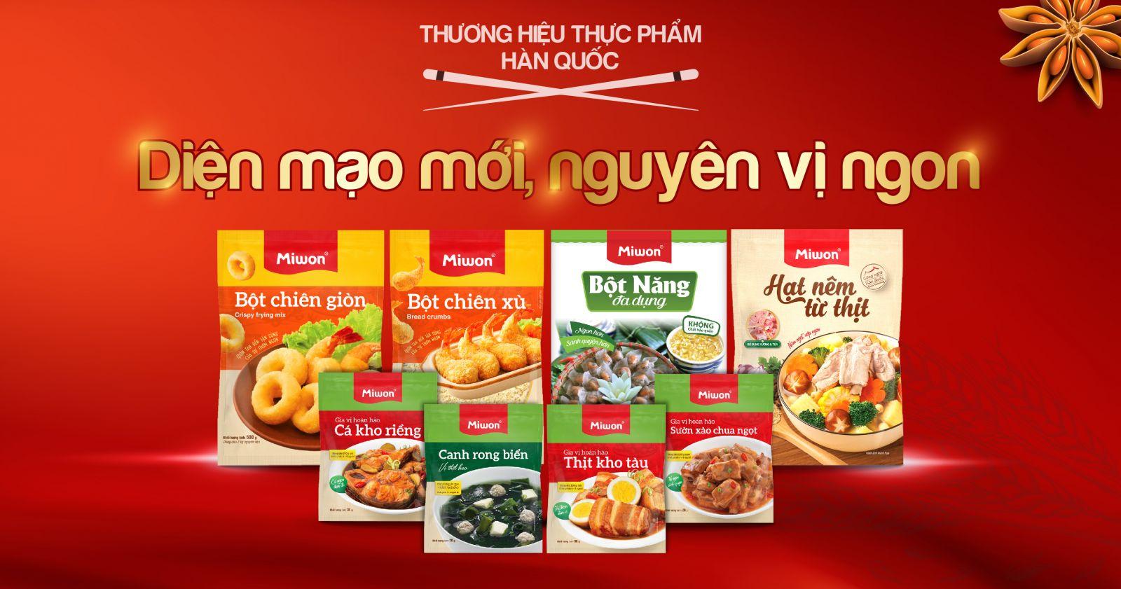 Miwon Việt Nam - Diện mạo mới nguyên vị ngon