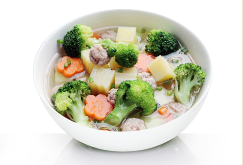 Bone soup with five fruits, Miwon mixed spice and super seasoning